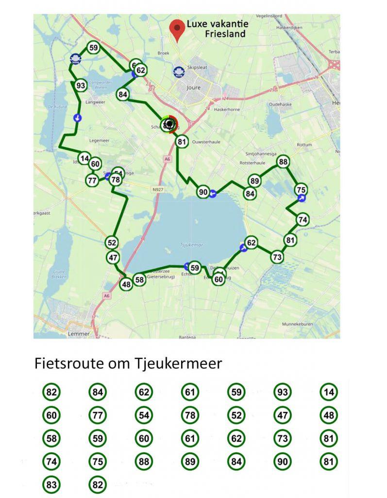 Fietsroute rond Tjeukermeer