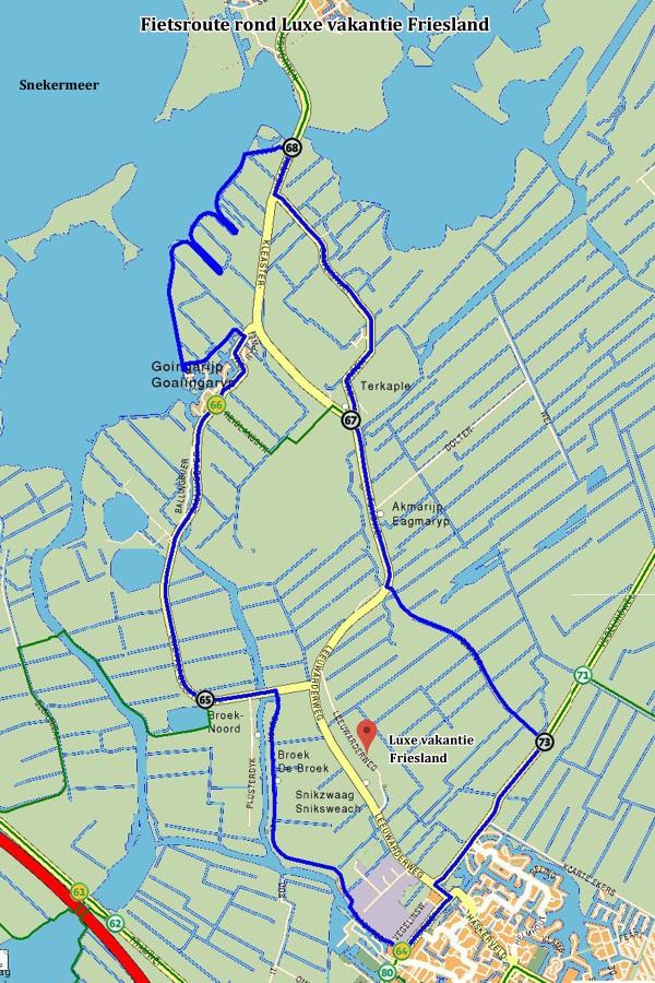 Fahrradroute rund um luxe vakantie Friesland