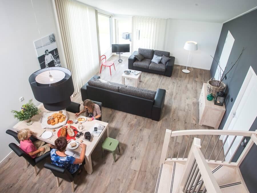 Vakantiehuis de Finne is compleet ingerichte woonkamer