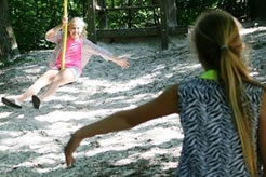 Vakantiehuis Friesland speeltuin voor kinderen