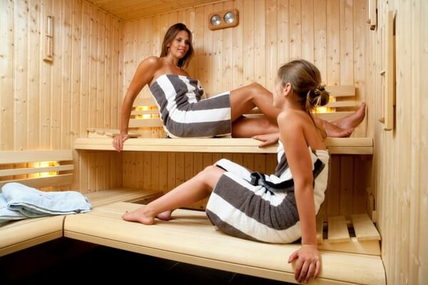 Luxe prive sauna, bij Luxe vakantiehuis Friesland