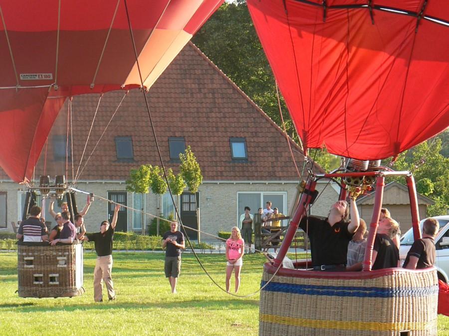 ballon varen vanaf Luxe Vakantie Friesland