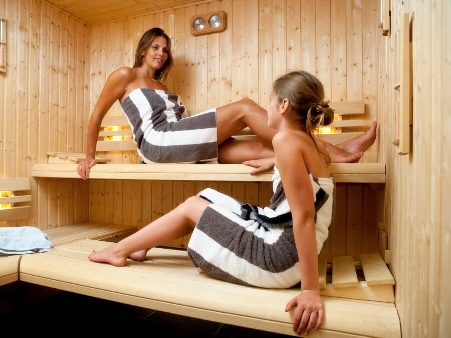 Genieten in de  finse sauna