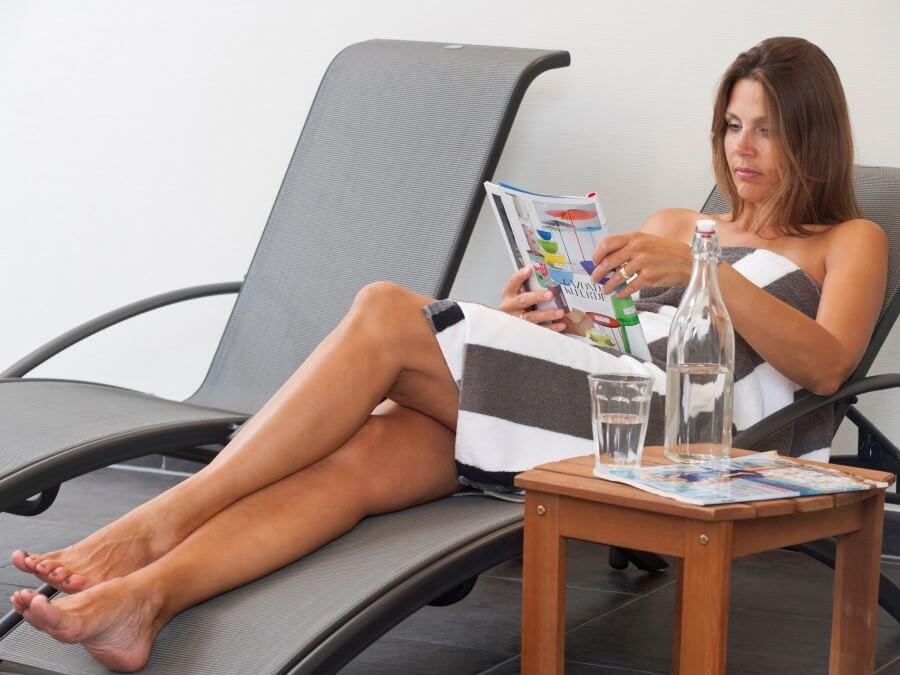Relaxen op uw ligstoel