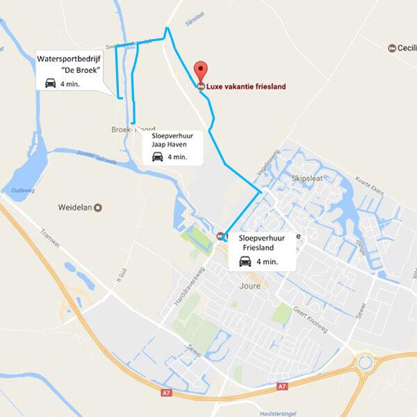 Sloep huren vlakbij Luxe vakantie Friesland