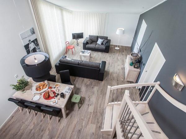 Vanaf de vide uitzicht over de woonkamer vakantiehuis De Finne ...